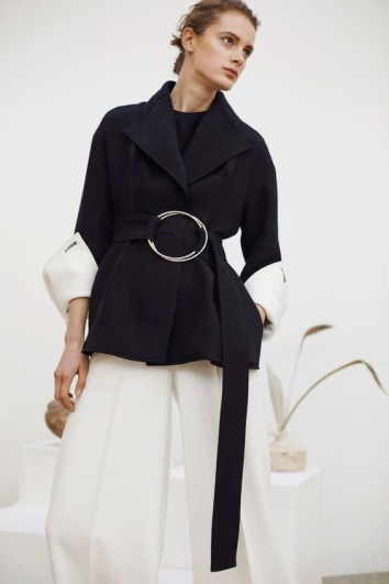 Rejina Pyo Black Short Trench